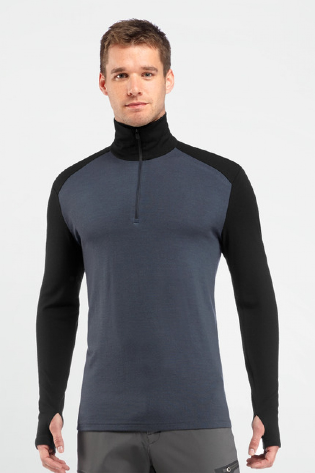 Футболка Icebreaker Tech Top LS Half Zip M Муж. шерстяная