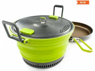Набор посуды GSI outdoors Escape HS 3 L Pot + Frypan складной green